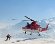 Winter Helicopter Rescue Mountain Accident
