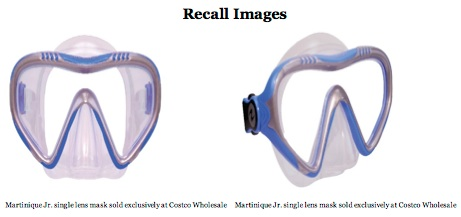 Recalled Martinique Jr Mask