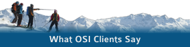 What OSI Clients Say