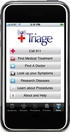 iTriage on the iPhone